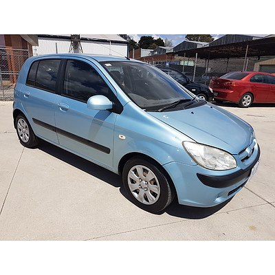 1/2006 Hyundai Getz 1.6 TB UPGRADE 5d Hatchback Blue 1.6L