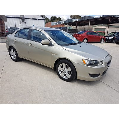 9/2007 Mitsubishi Lancer ES CJ 4d Sedan Gold 2.0L