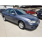 12/2002 Nissan Pulsar LX PLUS N16 4d Sedan Blue 1.6L