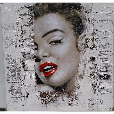 Stretched Canvas Print of Marilyn Monroe