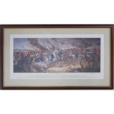 Framed Limited Edition Mark Churms Art Print 'La Moskowa - The Battle of Borodino' No 085
