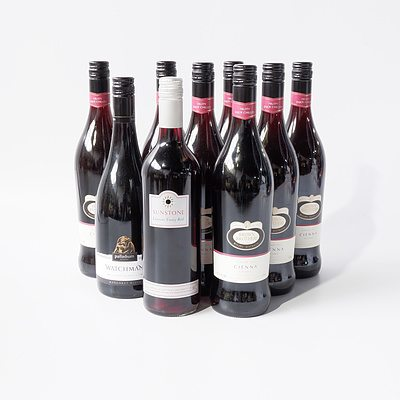 Seven 750ml Bottles of Brown Brothers Cienna 2013 and Two other 750ml Bottles of Red Wine