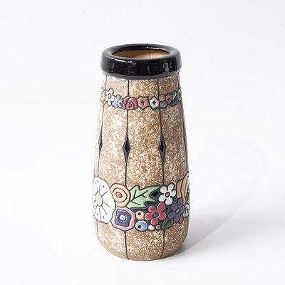 Vintage Czech Amphora Ceramic Vase