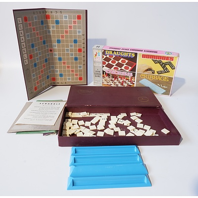 Vintage Scrabble and Mixed Board Games Set