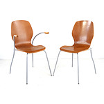 Set of Eight Vintage Moulded Plywood Dining Chairs