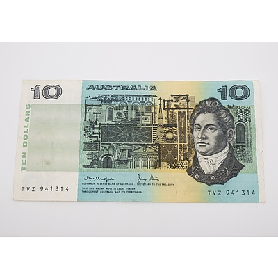 1979 Australian Ten Dollar Banknote Knight/Stone