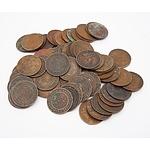 Large Group of Australia King George V Half Pennies 1912 - 1938