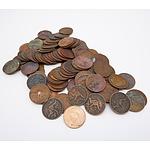 Large Group of Australia King George VI Pennies 1938 Onwards