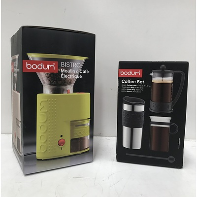 Bodum Coffee Set & Electric Coffee Grinder