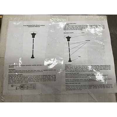 Group of Four Free Standing Solar Street Lanterns (Boxed)