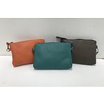 Three Small Condura Leather Ladies Handbags