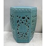 Ceramic Oriental Stool