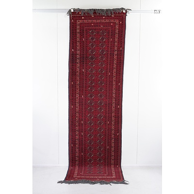 Hand Knotted Wool Pile Bokhara Runner