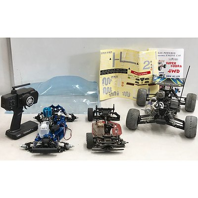Remote Control Nitro Powered Cars x 3