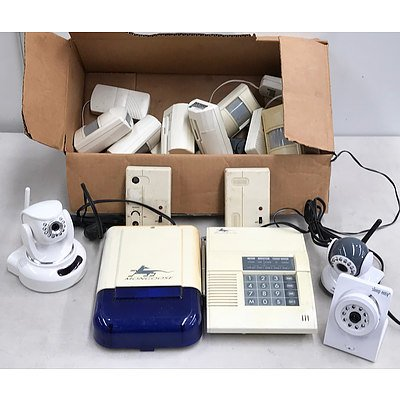 Mongoose Wireless Home Alarm System, Kambrook Movement Detector & Sleep Easy Remote Cameras x 3
