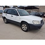 2/2003 Subaru Forester X MY03 4d Wagon White 2.5L