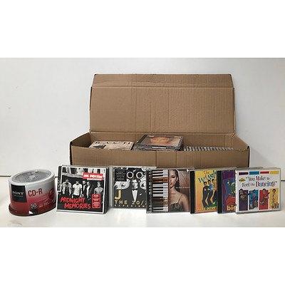 Bulk Box of CD's & 50 Pack of Sony CD-R 700MB Blank CD's