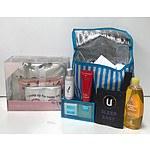 Bag of Brand New Cosmetics & ModelsPrefer Weekender, Zip Clutch & Zip Purse Pack