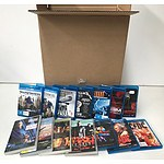 Large Box of Blu-rays & DVD's including Live Concerts from Nirvana, AC/DC, Iron Maiden & Metallica