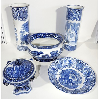 Various English Blue and White Wares, Incuding Copeland, Spode etc