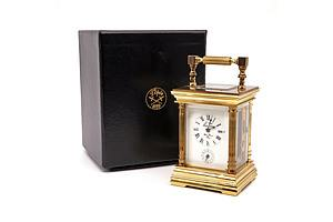 Quality Swiss L'Epee Brass Cased Mechanical Carriage Clock, Boxed