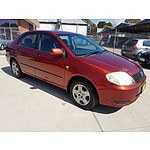 4/2004 Toyota Corolla Ascent ZZE122R 4d Sedan Red 1.8L