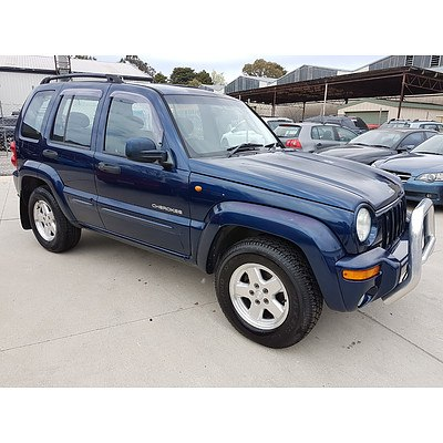 8/2004 Jeep Cherokee Limited (4x4) KJ 4d Wagon Blue 3.7L