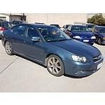 4/2005 Subaru Liberty 3.0r-b MY05 4d Sedan Blue 3.0L
