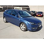1/2007 Ford Focus Zetec LS 5d Hatchback Blue 2.0L