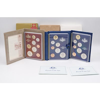 1988 Proof Coin Set, 1987 Proof Coin Set, 1985 Proof Coin Set