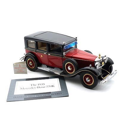 Franklin Mint 1:24 Diecast, 1935 Mercedes Benz 770K with COA