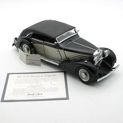 Franklin Mint 1:24 Diecast, 1939 Maybach Zeppelin with COA