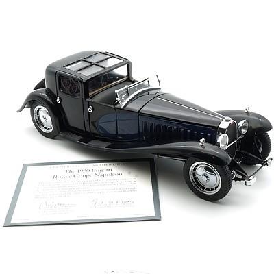 Franklin Mint 1:24 Diecast, 1930 Bugatti Royale Coupe Napoleon with COA