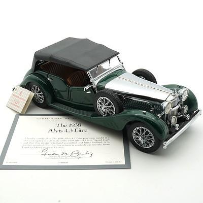 Franklin Mint 1:24 Diecast, 1938 Alvis 4.3 Litre with COA
