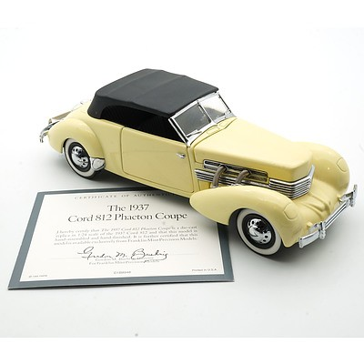 Franklin Mint 1:24 Diecast, 1937 Cord 813 Phaeton Coupe with COA