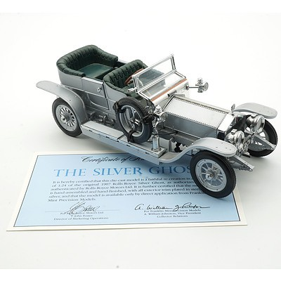 Franklin Mint 1:24 Diecast 1907 Rolls Royce Silver Ghost with COA
