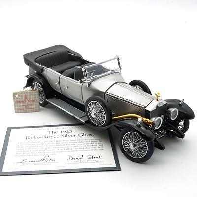 Franklin Mint 1:24 Diecast 1925 Rolls Royce Silver Ghost