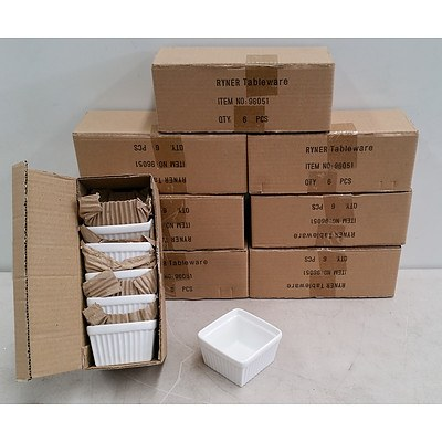 8 Boxes of Ryner Serving Cups/Dishes
