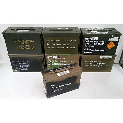 7 Small Ammunition Trunks