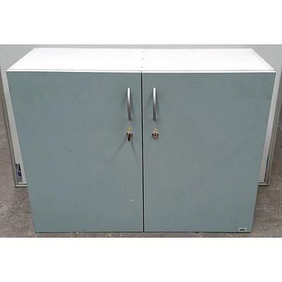 Blue Melamine Storage Cabinet