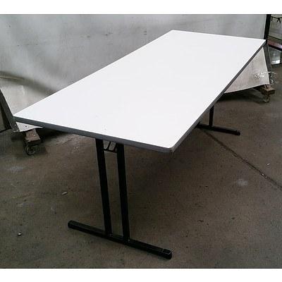 White Wooden Folding Table