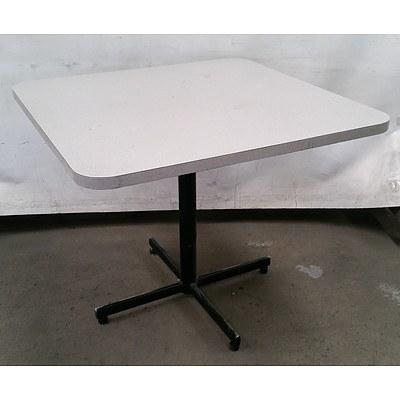 3 Johnson Grey Laminate Collapsible Tables