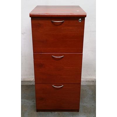 Timber 3 Drawer Filing Cabinet