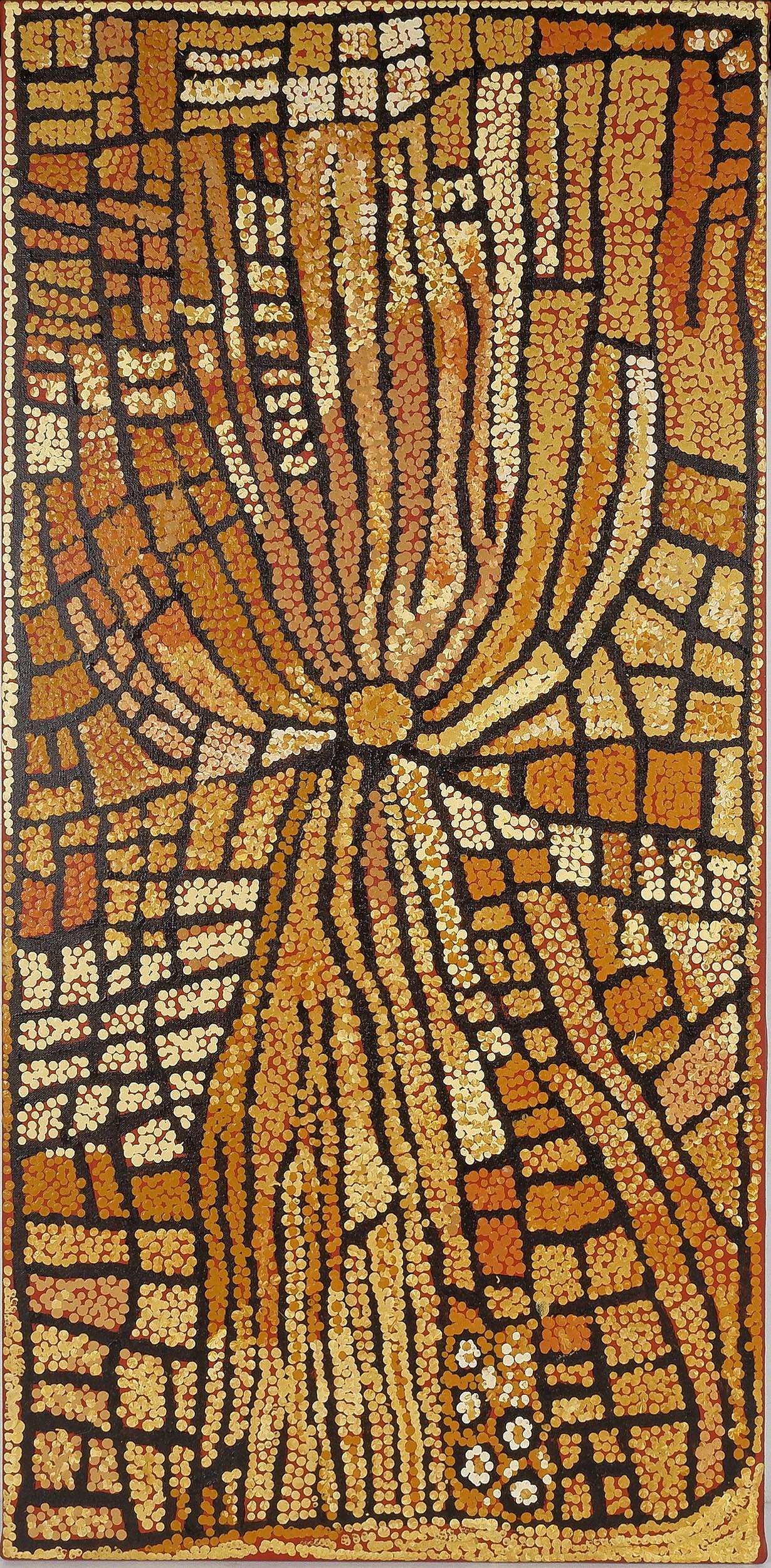 'Naata Nungurrayi (Pintupi c.1932-) Untitled 2004, Acrylic on Linen'