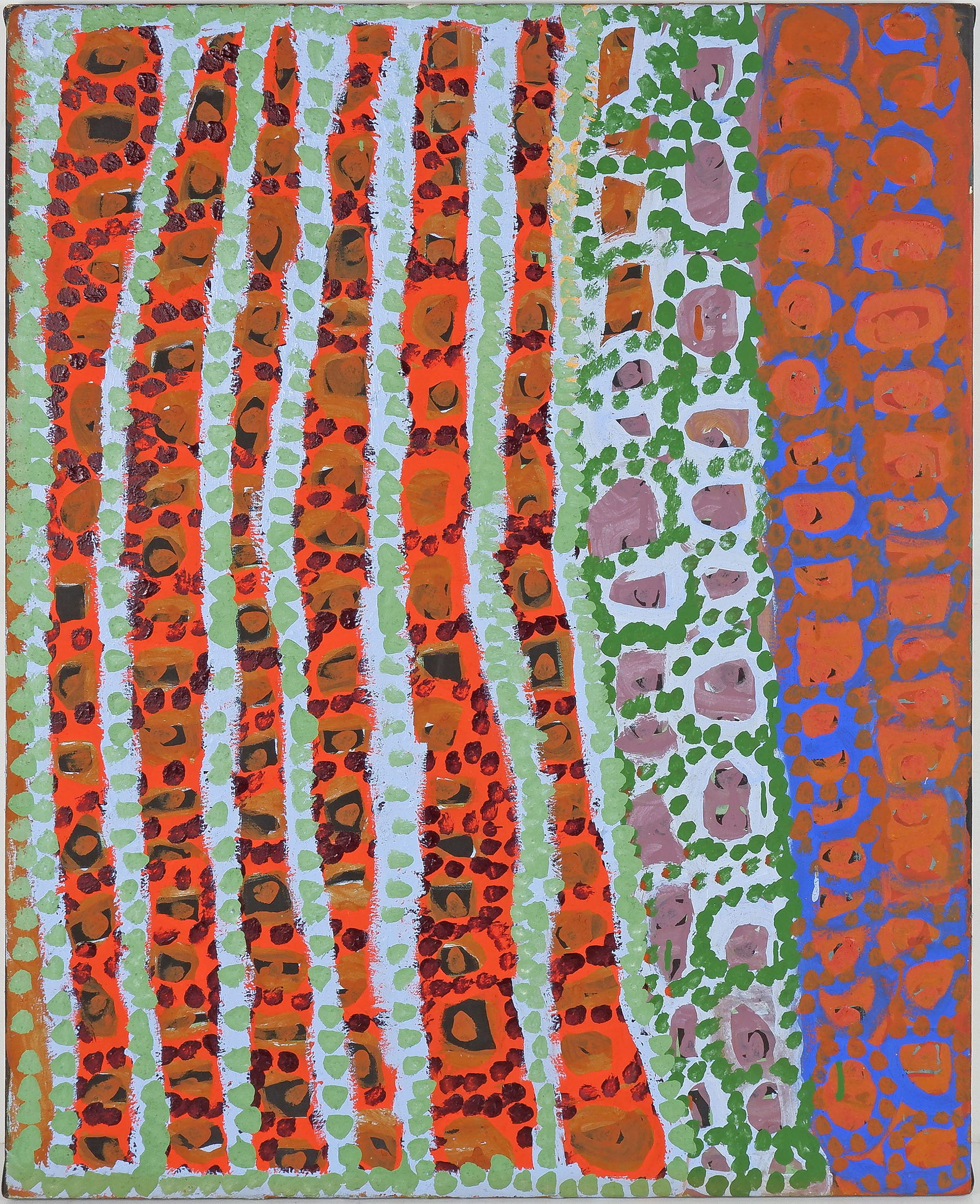 'Sally Liki Nanii (c.1932-) Kirriwirri, Acrylic on Canvas'