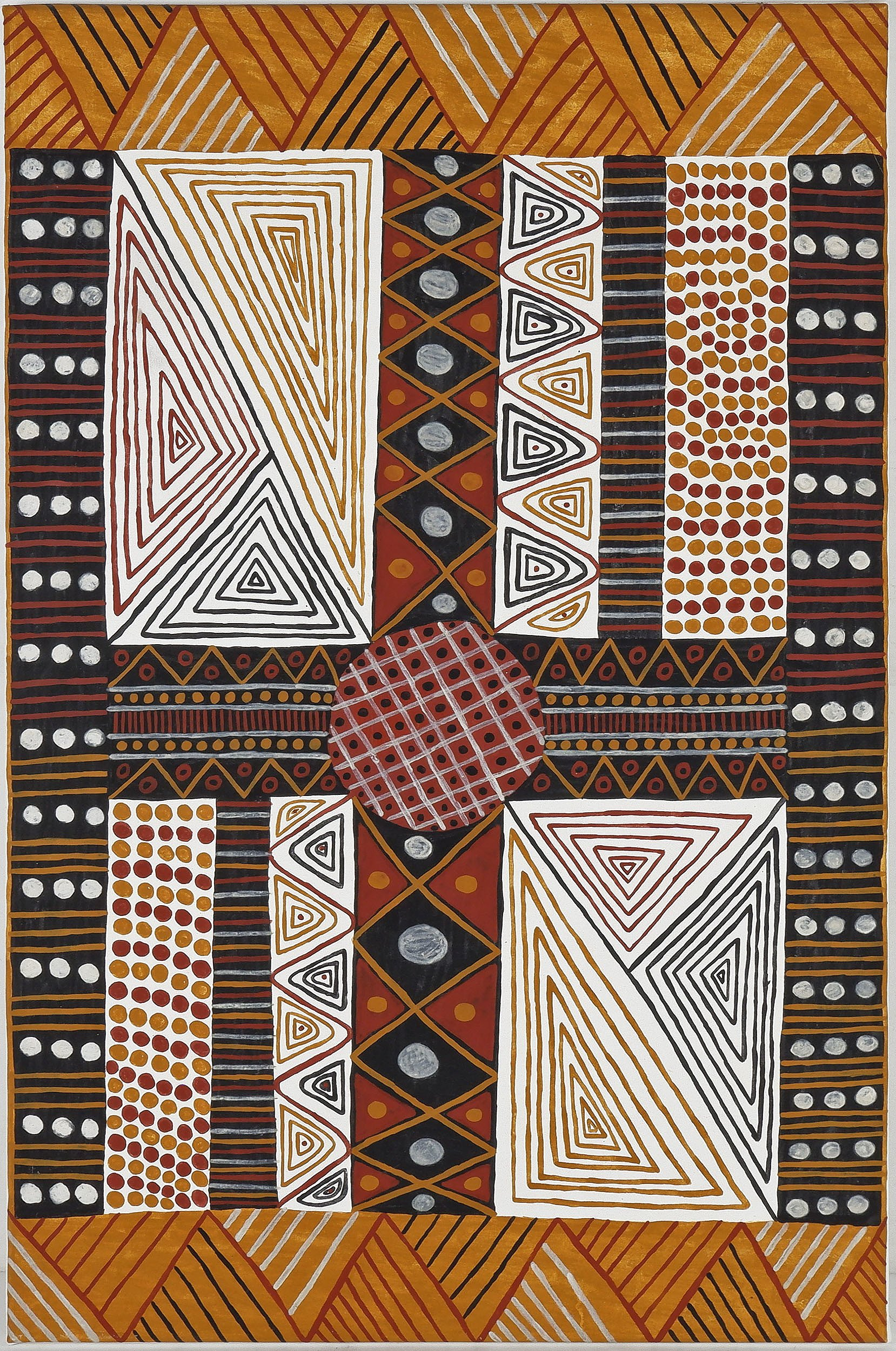 'Simona Wonaeamirri (Dates Unknown) Acrylic on Canvas'