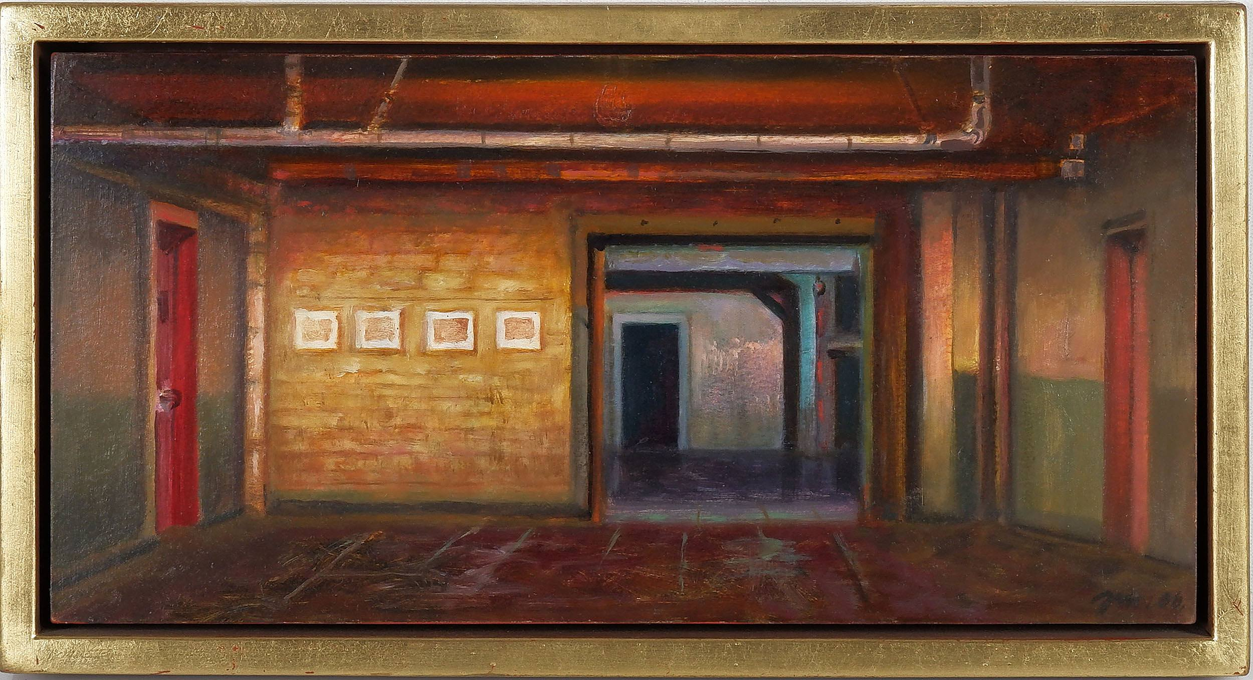 'Jerzy W. Michalski (Poland, Australia 1949-) Chelsea Interior I, Ochre on Paper'