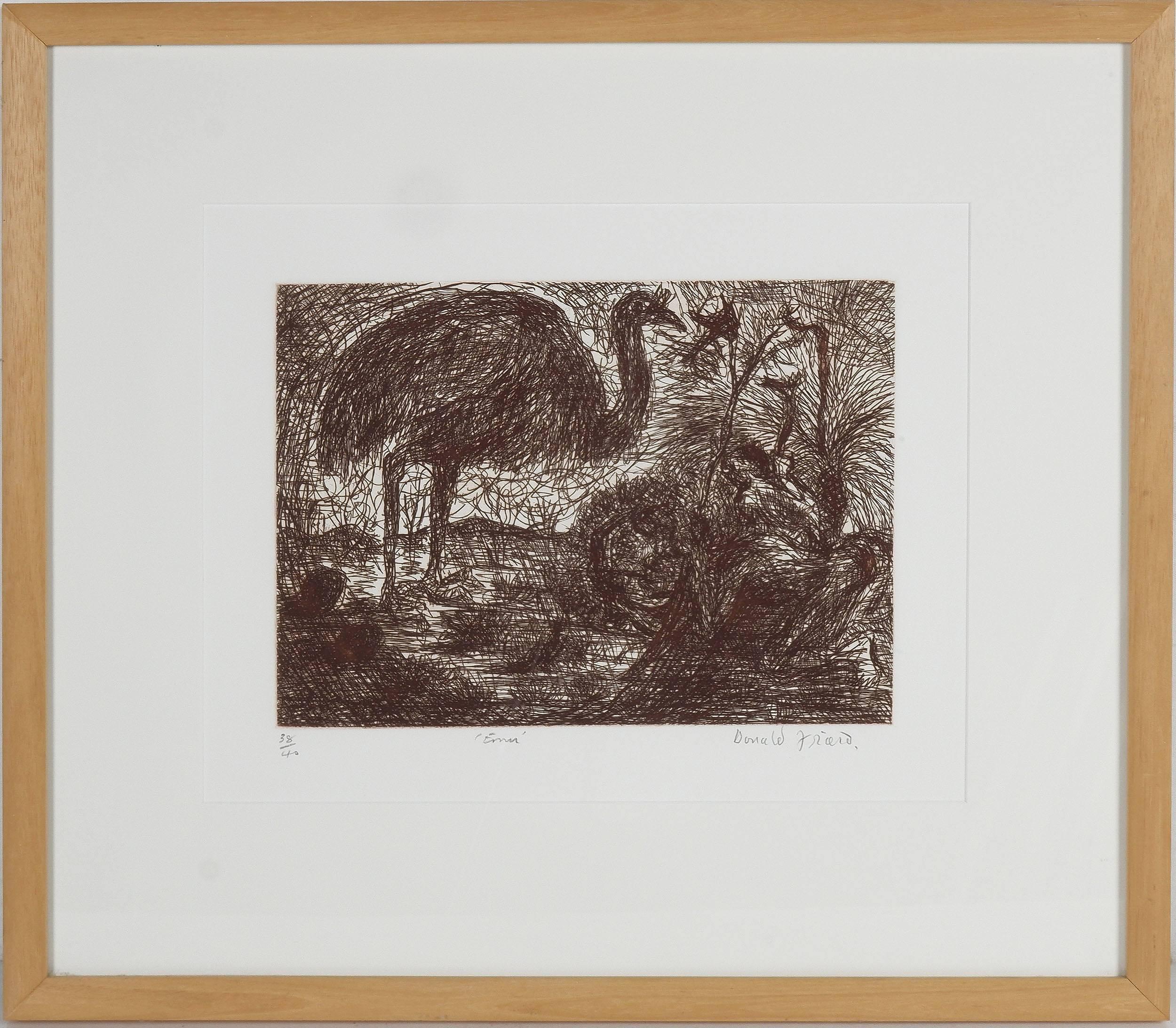 'Donald Friend (1915-89) Emu, Etching Edition 38/40'