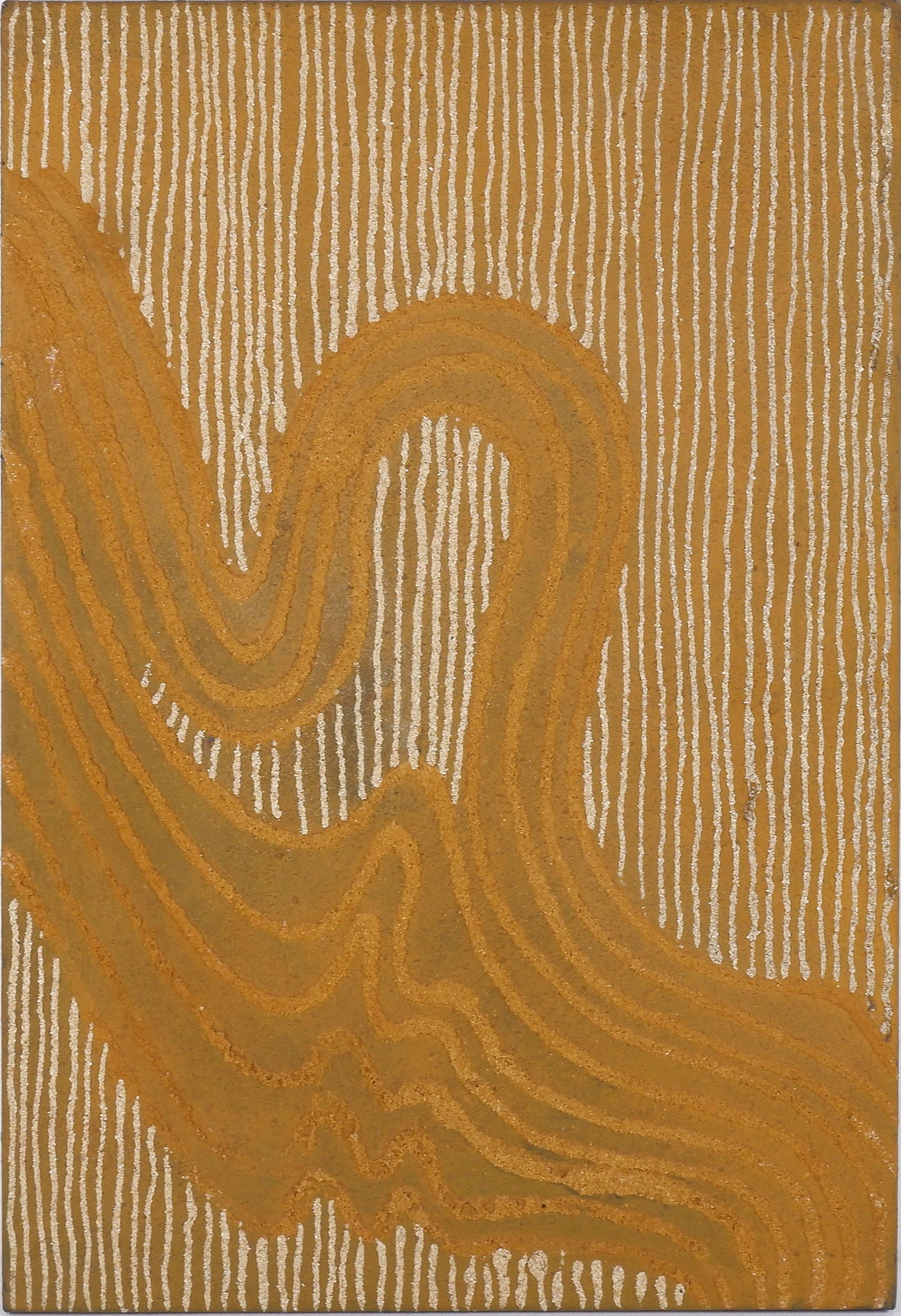 'Jonathan Kumintjarra Brown (1960-1997) Sandhills At Ooldea - Johns Grandfathers Country 1997, Sand and Acrylic on Linen'