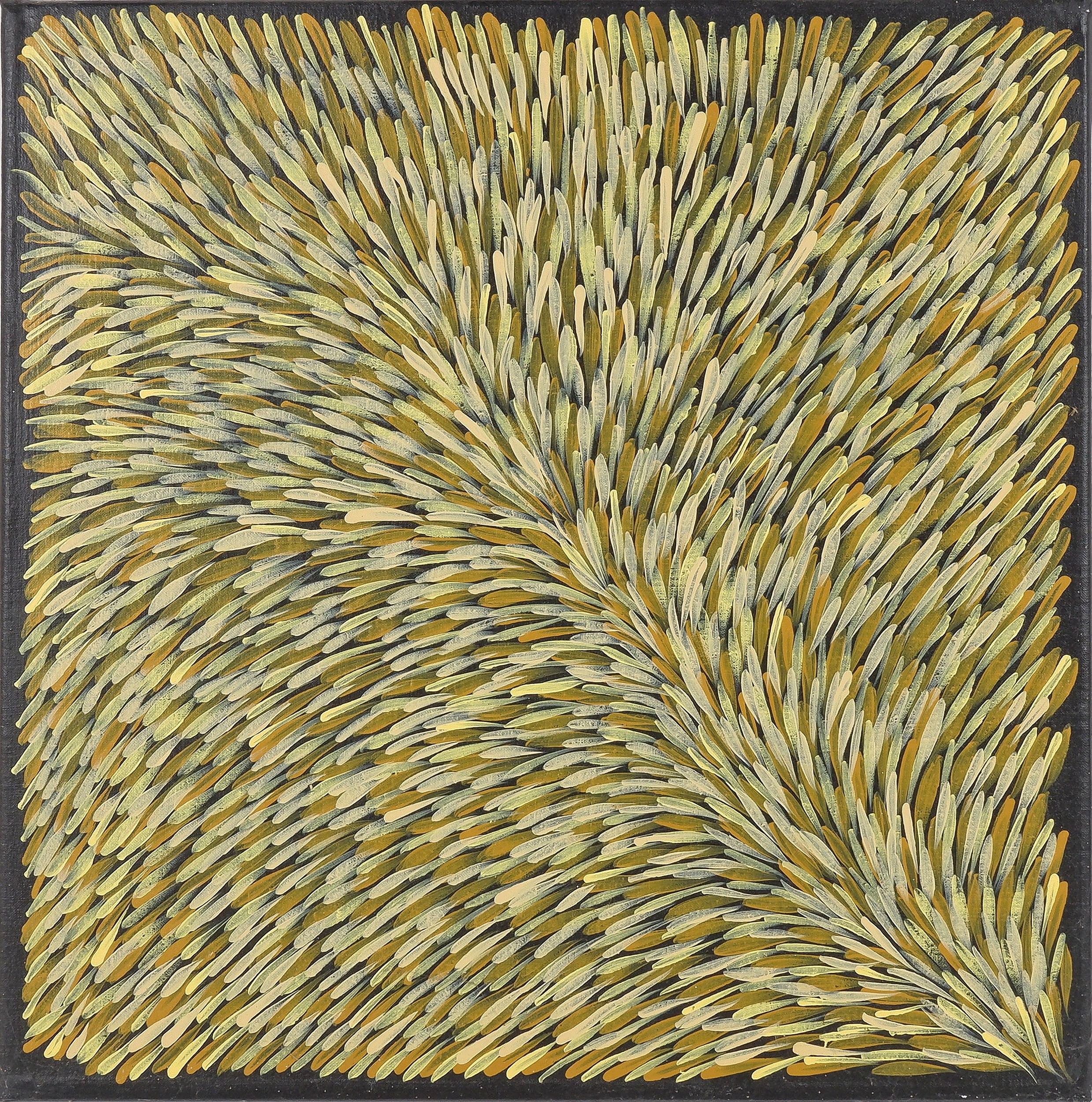 'Gloria Tamerre Petyarre (c.1938-) Fallen Leaves, Acrylic on Linen'